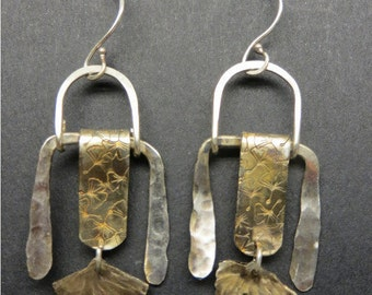 Ginkgo Leaf Sterling Earrings