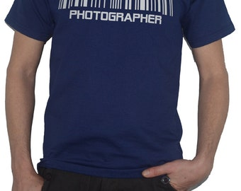 Photographer Barcode Funny T-Shirt! (Photography Camera Top)