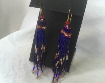 Fourth of July Earrings, Red White and Blue Earrings, Patriotic Earrings, USA earrings, July 4th Earrings