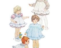 Simplicity 5777, 80s Sewing Pattern, Size 2 Girl's Lace Dress Pinafore Panties, Full skirt, Ruffle Sleeves, Eyelet Sleeves, Elastic Pants