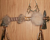 """TOMAHAWK """"the HAWK"""" ~~~~ A Tomahawk with a Spirit Catcher ~ """"the Hawk"""",  """"Kahrhakon:ha"""" in Mohawk ~ Handmade by Uncle Hawkeye BLESSINGS !!!!"""