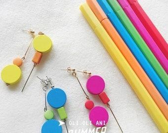 Summer Style Colour Block Earrings
