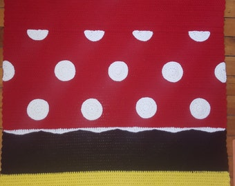 Minnie Mouse Inspired Crochet Toddler/Baby/Child Blanket