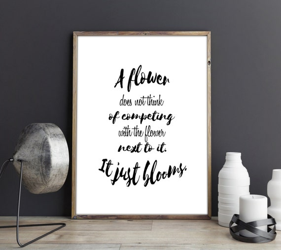 Competition Quotes Inspirational: Printable Quotes Motivational Quote By TheBlackCatPrints