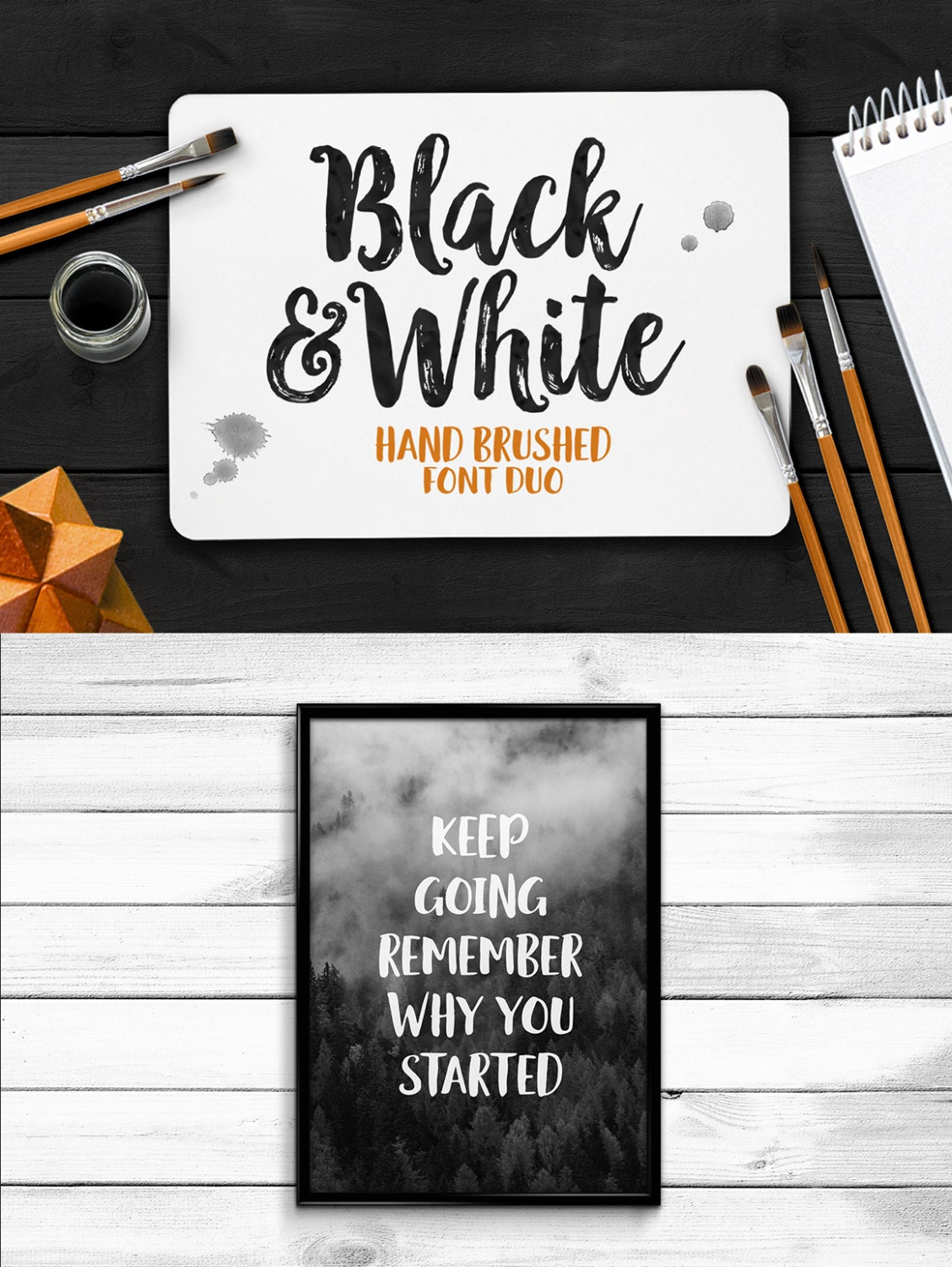 black white font duo handpainted font handbrushed font. Black Bedroom Furniture Sets. Home Design Ideas