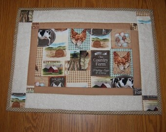 Country Quilted Placemat