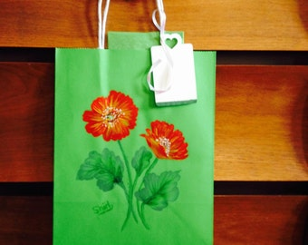 Hand-painted gift bag