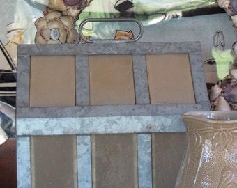 Tin and Lucite Terrarium