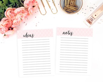 A5 Printable Planner Inserts, Printable Notes A5 Planner Inserts, To Do List A5 Planner Binder, Organizer Planner, 8.5 x 11 Planner