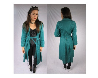Price Drop!!! Vintage 80s London Fog Trench Coat Vintage Coat Greenish Blue Trench Coat