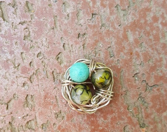 Handmade Bird Egg Nest Necklace Variety