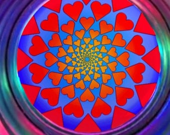 Maui Heartwave Mandala PIN (3 inc)