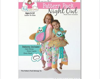 Kids Can Sew easy sewing pattern packet FREE SHIPPING USA