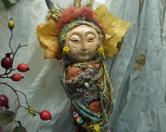 Quan Yin, Zen Garden, Moon of Compassion, Spirit Art Doll Assemblage by Griselda Tello