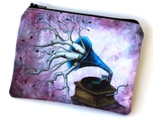 It Just Comes Naturally - Zipper Pouch - Whimsical Photograph with Tree Branches - Art by Marcia Furman