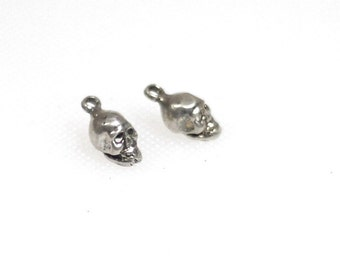 Sterling silver 3D skull charms