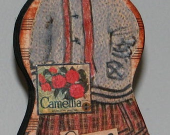Primitive Style Wood Doll Girl With Attitude Says Who