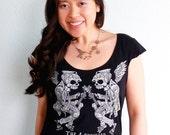 Ukulele Women's Tshirt, Ukulele Gift - Ukulele Shirt, Uke T Shirt, Music Festival Clothing - The 4-Stringed Reapers of Doom Ukulele Club
