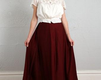 SALE- Antique Wool Skirt . 1900