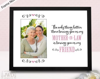 Mother in Law Gift Mom in Law Gift Personalized Picture Frame Mat Photo Gift for Mother in Law Birthday  Gift- FRAME NOT INCLUDED #PM514