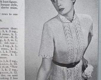 Needlework Illustrated No. 199 Vintage 1950s UK needlecraft magazine sewing embroidery knitting - 50s knitting pattern women's basque blouse