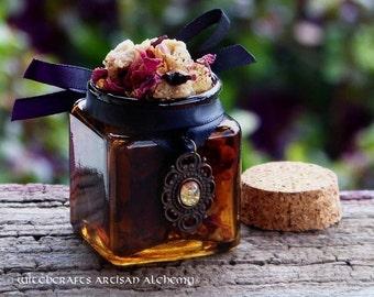 """VÖLUSPÁ™ Old European Witch Seeress """"Fine Art Amber""""™ Resin Herb Incense Master Crafted by Witchcrafts Artisan Alchemy"""