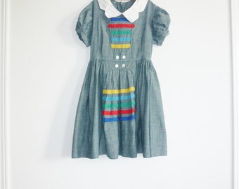 Vintage Girl's Blue Dress