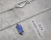 Petite Boulder Opal, no. 2…boulder opal in sterling silver and 14k rose gold necklace