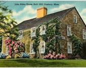 Vintage Massachusetts Postcard - The John Alden House, Duxbury (Unused)