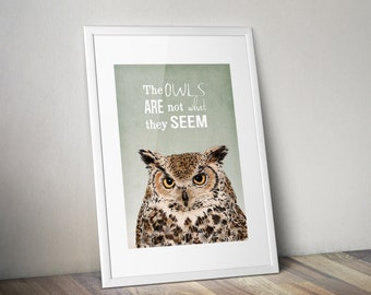 Twin Peaks Poster - The Owls Are Not What They Seem