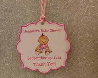 Baby Shower Favor Tags with strings.   Baby Boy or Girl