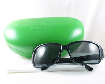 Vintage Kate Spade Designer Sunglasses with Case, Cleaning Cloth
