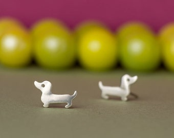 Dachshund Earrings Dachshund Studs Sterling silver Wiener Dog Earrings Kids Earrings Pet earrings Dog Earrings Dog Jewelry