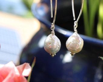 Sterling Freshwater Pearl Earrings