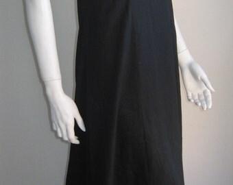 60s 70s vintage long black party dress cotton