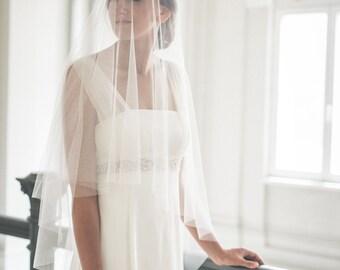 Circle drop veil - Bridal veil - Circle veil - Drop veil - English net veil - Simple veil