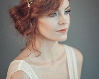 Gold leaf tiara - Laurel leaf flower crown - Grecian wreath - Bridal leaf crown - Bridal headpiece - Greek goddess hair accessory