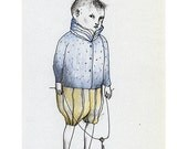 Boy with a Key drawing original illustration people figurative