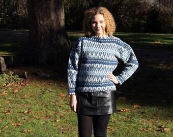 1960's Mod  Scandinavian Wool Ski Sweater