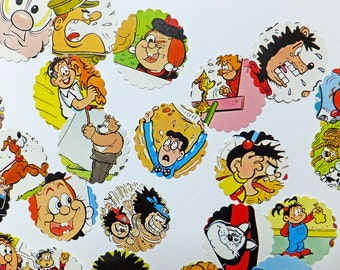 Comic Scrap-booking pack, comic scrap pack, Beano characters, 45 pieces, paper ephemera pack, comic die cuts, paper scraps, craft supplies