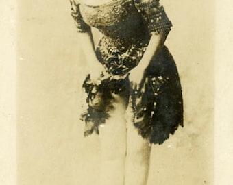 "Vintage Real Photo Postcard ""Ellen...The Dancing Lady"" Antique RPPC Photo Black & White Photography Paper Ephemera Collectible - 11"