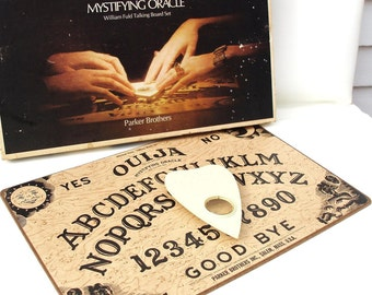 Vintage Board Game, Ouija Board, Party Game, Mystifying Oracle Ouija Planchette , Original Box