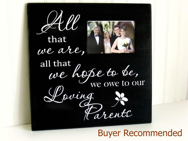Parents Wedding Gift/Wedding Frame/Loving Parents Wedding