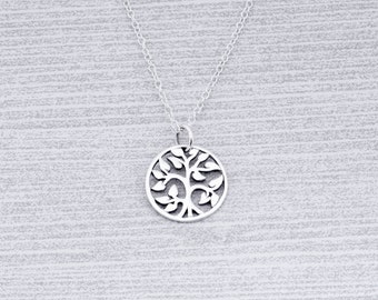 Tree-Of-Life Necklace, Family Tree Necklace, Tree Of Life Jewelry, Tree Of Life Charm, 14mm Tree Of Life Jewelry