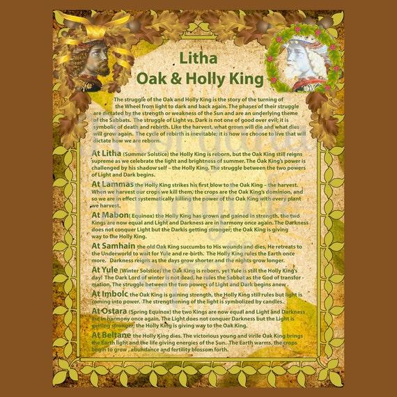 Litha Ritual HOLLY & OAK KING L...