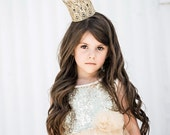 Ready to Ship || WASHABLE || Sienna Tall Mini || gold|| lace crown|| headband option|| photography prop || Love Crush Exclusive