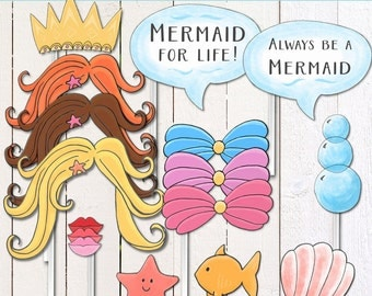 Mermaid/ Under the Sea (Instant Download) Printable Photobooth props