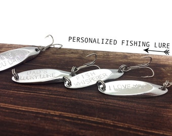 Personalized fishing lure - personalized dad gift, fathers day gift, men man dad, fish, sports, outdoors, gift for dad, gift, from wife