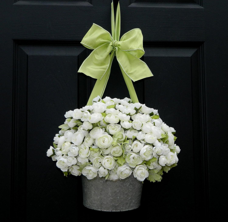 Door Wreath Alternative White Wreath All Season Wreath
