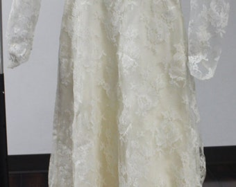 Vintage Wedding Dress, Vintage bride, FREE shipping